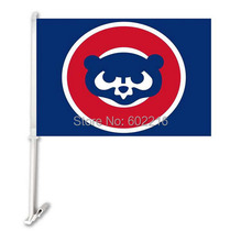 2PC Chicago Cubs Baseball Throwback Car Team Flag(China)