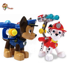 20cm Pop Juguetes Patrulla Canina Toys Puppy Patrol For Children Russian Kids Boy Puppets Dog Anime Action Figure Chase Marshall
