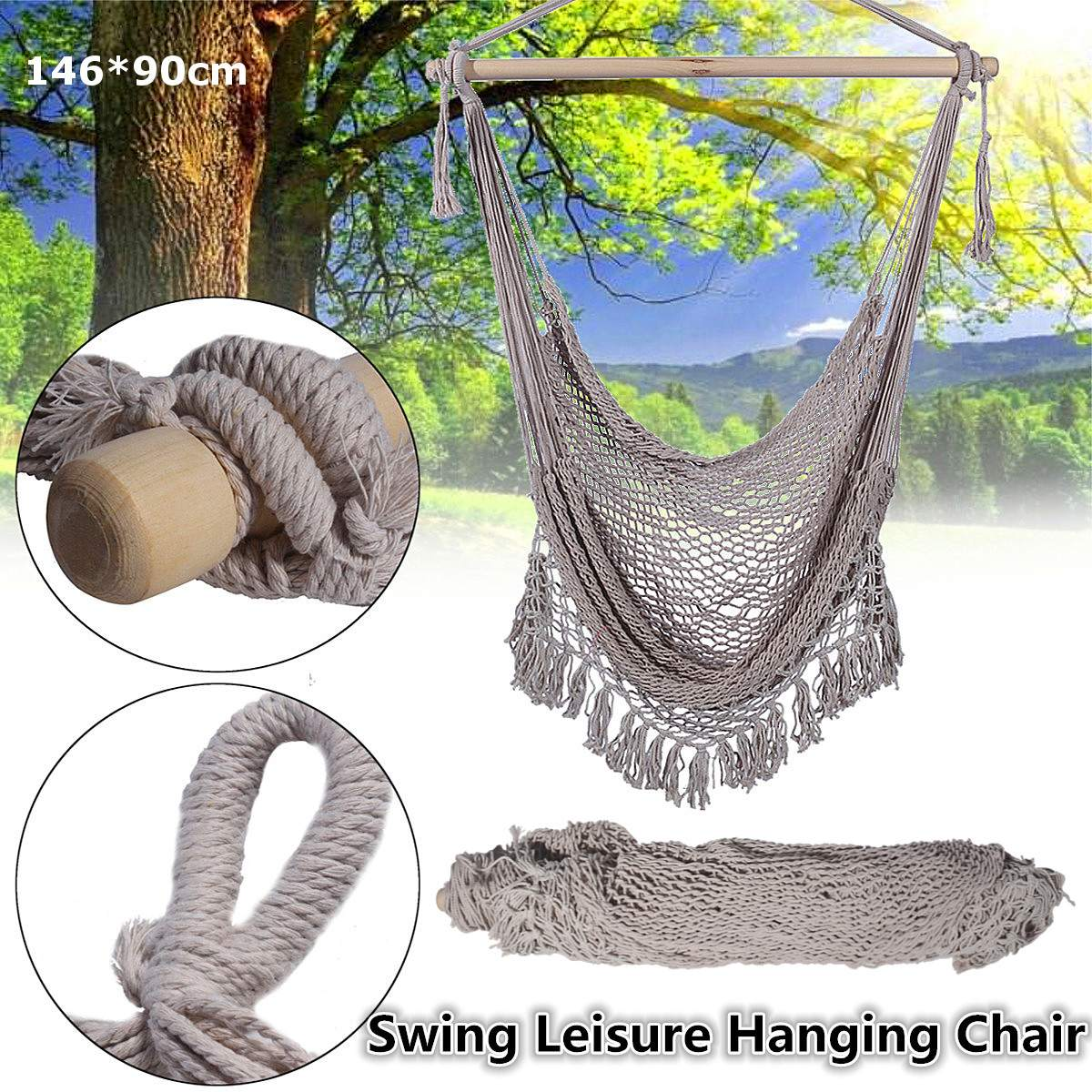 2019 Outdoor Hammock Chair Hanging Chairs Swing Cotton Rope Net Swing Cradles Kids Adults Ba Lcony Garden Indoor Travel Portable Hot From Flaminglily