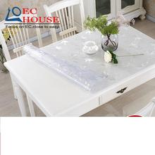PVC waterproof soft glass cloth mat Plastic table Tablecloth crystal plate thickening disposable FREE SHIPPING