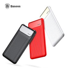 Baseus power Bank 10000mAh Digital display portable charger Double USB QC 3.0 Fast charge Phone mobile power Micro Type-C input