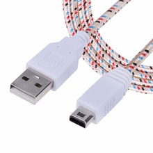 Braided Micro USB 2.0 Port Charging Data Sync Cable Gold-plated Connector Charging Cable Nintendo Wii U Console