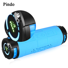Pindo 20W Deep Bass Outdoor Car bike Bluetooth Speaker 10000mAH Power Bank Portable 3D Stereo HIFI Wireless Speaker with Mic(China)