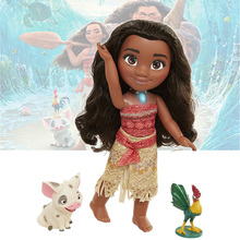 40cm Moana Music Speaking Singing and Lighting Moana PVC Action Figures Toys Gifts for Children Kids Free Shipping(China)