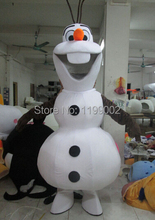Olaf On Sale, Not To Be Missed.Smiling Olaf Mascot Costume Cartoon Character Costume Free Shipping