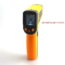 KETOTEK LCD Non-Contact Digital Laser IR Infrared Thermometer -50~600C -58~1112F C/F Selection Surface Pyrometer 0.95EM Celsius
