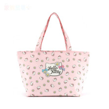 Hello Kitty Genuine Cotton Cloth, Cartoon Shopping Bags Travel Bags Fashion Shopping Bags Storage Box(China)