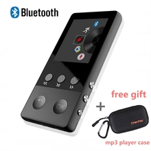 2017 Portable Sport Metal HiFi Bluetooth MP3 Music Player with Voice Recorder E-Book FM Radio Pedometer + Free Gift MP3 Cover(China)