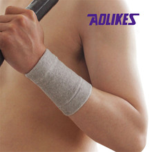 AOLIKES 1 Pair Bamboo Charcoal Wrist Support Tennis Wristband Sport Wrist Wraps Band Brace Athlete Wrist Wraps Protection