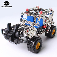 262pcs Plastic Model Kits Metal Model Puzzle Jeep Car Toy Baby Scale Models Kit 3D Building DIY Toy Kit Children Educational Toy(China)