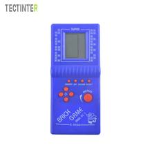 Portable Classic Tetris Handheld Game Players E9999 LCD Electronic Handheld Game Console Toys Childhoold Riddle Educational Toys(China)