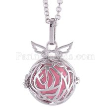 Partnerbeads Geometric Angel Lockets Plated Inlaid CZ Stone Stainless Steel Cage Prayer Box (exclude the ball) AC3768S