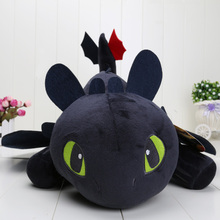 55cm How To Train Your Dragon Toothless Plush Toy black Dragon soft Dolls