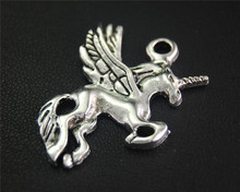 Buy 5pcs Antique Sliver Unicorn Animal Charm Fit Bracelets Necklance DIY Metal Jewelry Making 34X30mm A2058 for $1.78 in AliExpress store