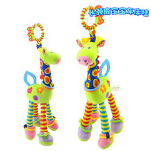 37cm 12cm Giraffe Plush Animal Toy Baby Bed Hanging Stuffed Doll Soft Plush Toy Newborn Baby Kids Infant Toy Purple Green Blue