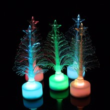 1Pcs Colorful LED Fiber Optic Christmas Tree Light For Festival Party Decoration Christmas Tree Nightlight Children Xmas Gift(China)