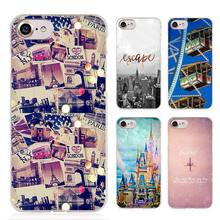 Travel in the world Clear Cell Phone Case Cover for Apple iPhone 4 4s 5 5s SE 5c 6 6s 7 Plus