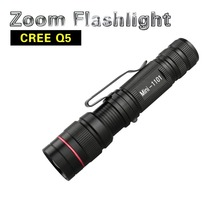 LED Flashlight Q5 Zoomable Waterproof Flashlights Linternas LED Lampe Torche AA / 14500 Mini LED Flashlight for Self Defense(China)