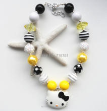 new arrival chunky bubblegum character HK pendant necklace multi color kids/child/girls beads necklace jewelry reasonable price(China)
