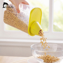 FHEAL Grains Plastic Storage Box Kitchen Accessories Candy Beans Food Container