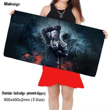 Mairuige Witcher 3 Large Mouse Pad Large Gaming Mouse Pad Locking Edge Mouse Mat Speed Version for Dota CS GO Mousepad 5 Sizes(China)