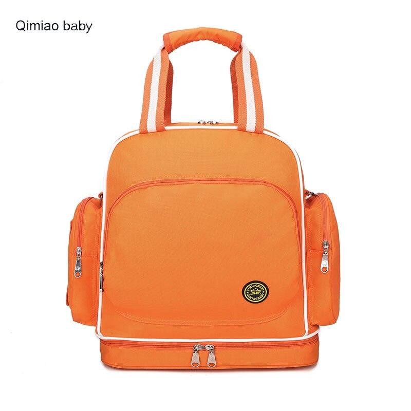 Practical Mummy Bag Big Capacity Fashion Backpack Tote Bag Baby Nappy Bag Maternity Backpack For Travel Outdoor Stroller Bag<br>