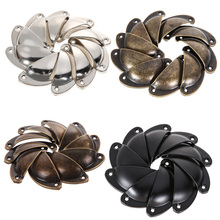 10 PCS Vintage Cabinet Knobs and Handles Cupboard Door Cabinet Drawer Furniture Antique Shell Handle(China)