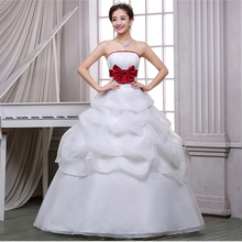 free shipping Custom Wedding Dress 2017 Cheap Celebrity Strapless Vintage Tulle Bridal Organza Lace bridal dress with petticoat