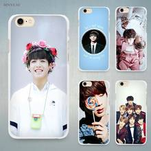 BTS Bangtan Jim Taehyung Hard White Cell Phone Case Cover for Apple iPhone 4 4s 5 5C SE 5s 6 6s 7 8 Plus X(China)
