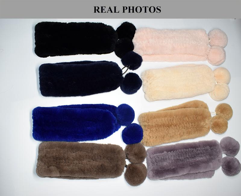 rex rabbit short scarf details 3