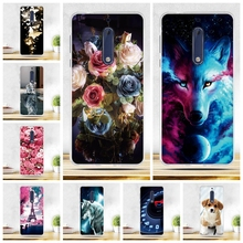 "3D Relief Drawing For Nokia 5 Case Cover For nokia5 Silicone Cover Soft TPU Coque For Nokia 5 Cover 5.2 "" Mobile Phone Bags Capa(China)"