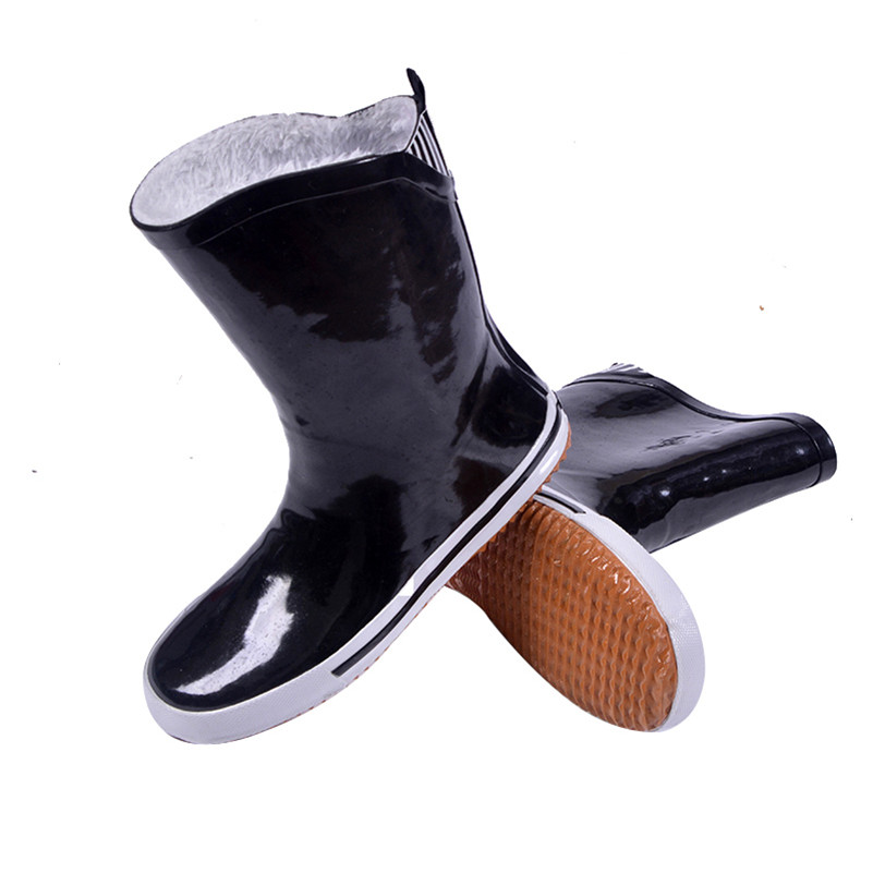 Comfortale Warm Flats Waterproof Long Rain Boots Soft Rubber Zapatos Mujer Superstar Ladies Work Snow RainBoots Shoes Women 2017<br><br>Aliexpress