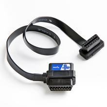 bbfly-A9 ODB II ODB2 Splitter Extension 16 Pin Extension Cable Adapter (A9 Flat 2FT/60CM)