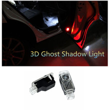 2PCS LED Laser Ghost Shadow Projector Welcome Warning Courtesy Car Door Light  for AUDI Audi A1 A3 A4 A5 A6 A7 A8 R8 TT Q3 Q5 Q7