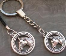 Vintage Silver Charms Horse Keychain For Keys Car Bag Key Ring Handbag Couple Mobile Phone Lanyard Key Chains Gifts HOT M92(China)