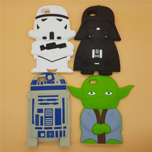 NEW 3D Soft Silicone Star Wars Darth Vader Yoda R2D2 Back Cover Case For iPhone 4 4S SE 5 5S 5C 6 6S 7 7S & Plus