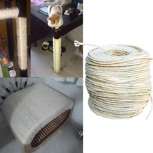 3M Sisal Rope for Cats Dog Scratching Post Toys Making DIY Desk Foot Stool Chair Legs Binding Rope Material for Cat Sharpen Claw