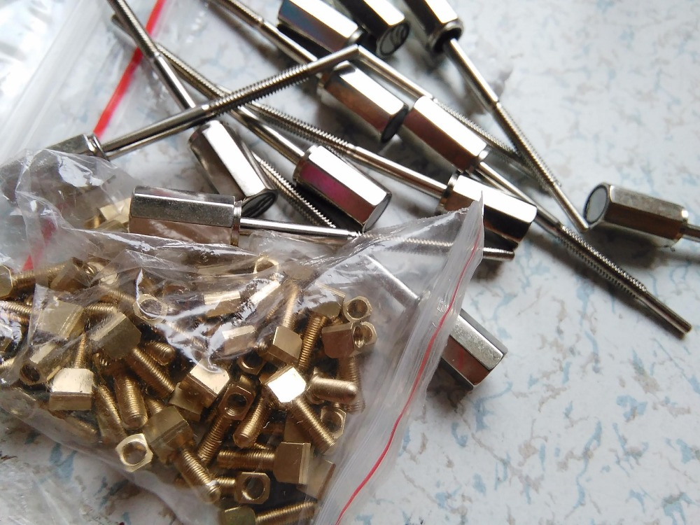50 PCs Violin Bow Screws 4/4 Silver Color violin bow parts<br>