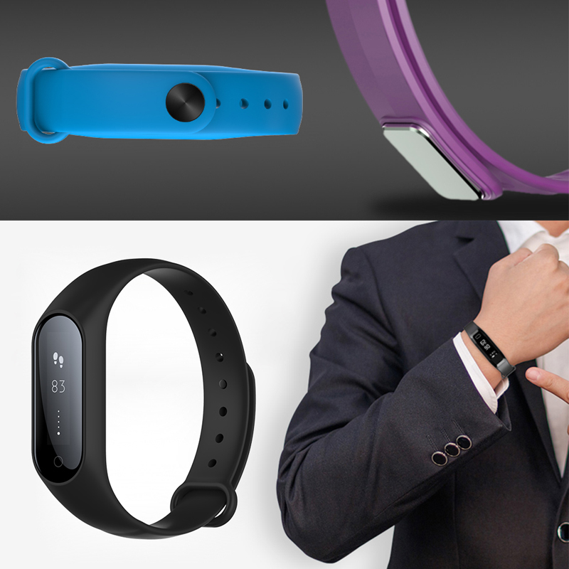 OOTDTY Y2 Plus Smart Wristband Bracelet OLED Touchpad Heart Rate Monitor Health Tracker