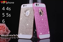 LELOZI Bling Bling Fashion Shinning Case Glitter Protector Cell Phone Back Cover For apple iphone 4 4s 5 5s 6 6s