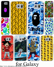 Sponge Bob Square Pants Bape Hard Transparent Case Cover for Galaxy S3 S4 S5 & Mini S6 S7 S8 Edge Plus Case Cover
