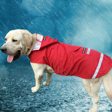 Hooded Large Size Dog Raincoat Puppy Pet  Dog Raincoat Two Legs  Reflective Stripe Pet Supplies Puppy Hoodies 3XL/4XL/5XL 1PCS