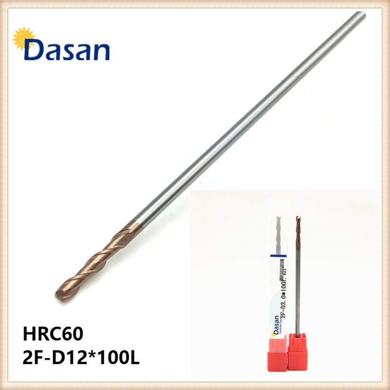 HRC60 2F-D12*100L Flat EndMills 12mm Carbide Two Flutes Straight Shank TiAlN Coated End Mill CNC Metalworking Milling Cutte Tool<br>