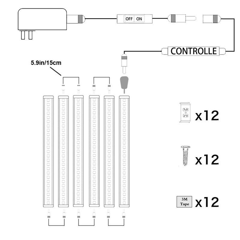 LED Puck Lights Kit Rigid Bar64