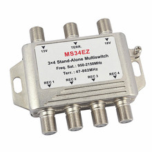 3 In 4 Out Satellite DiSEqC Stand-Alone Multiswitch Splitter 3x4 Satellite Switch FTA TV LNB Switch For Smatv DVB-S2 DVB-T2(China)