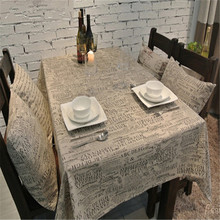 Table clothes Table Cloth Mat Cover Cotton Hamp Linen Lace Letter Design Freeshipping Wholesale