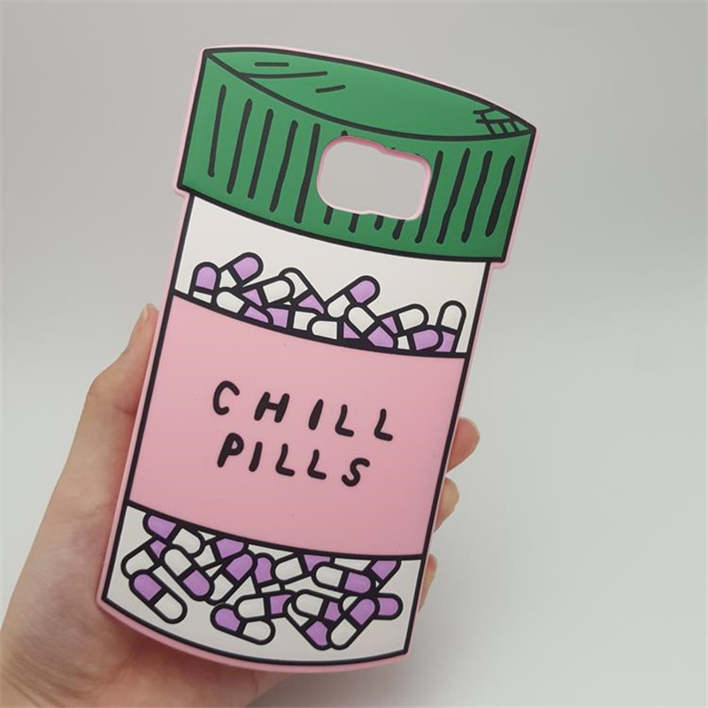 For S5 Fashion 3D Love Potion Chill Pills Bottle Soft Silicone Cover font b Case b