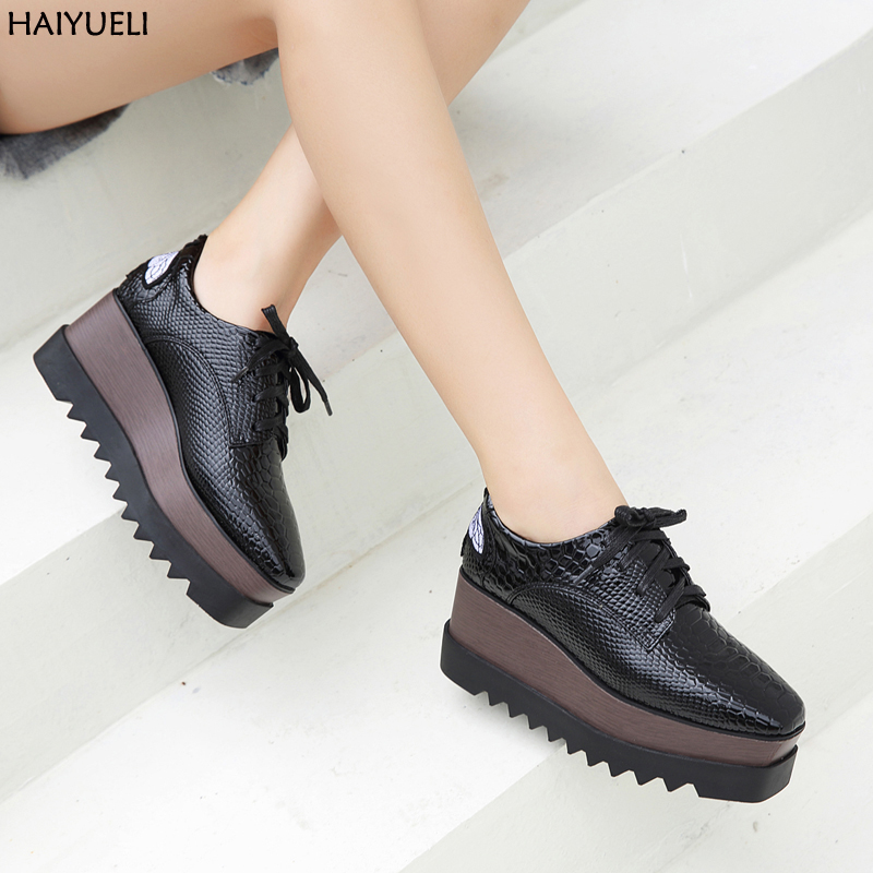 Sapato Salto Feminino Women High Heels Shoes Platform Wedges Ankle Shoes Casual Ladies Pumps Lace Up High Heels<br>