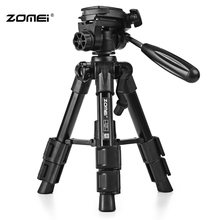 Zomei Q100 Aluminum 3-way Pan Tilt Head Quick Release Plate Mini Travel Tabletop Tripod wh Carrying Bag for DSLR Cameras PK Q111(China)