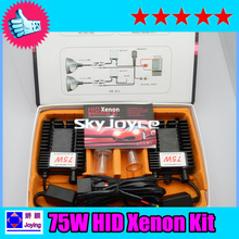 1X fast bright 75W hid Xenon kit H1 H3 H7 H8 H9 H11 H10 9005 9006 75W hid kit auto headlight bulb hid conversion kit headlamp(China)